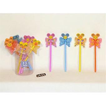 Import Pencil With Butterfly Goma (Toys , School Zone , Drawing And Color)