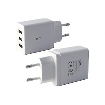 Ksix AC Adapter 3 USB 3.1 intel carrega vit