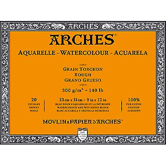 Arches Watercolor Rough Paper Block 140# 20 Sheets-9