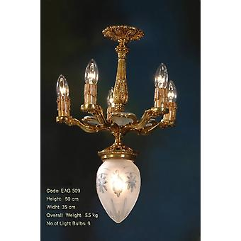 pendant lamp  brass baroque  antique chandelier strass glass AgEag0509