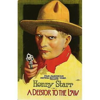 A Debtor to the Law Movie Poster (11 x 17)
