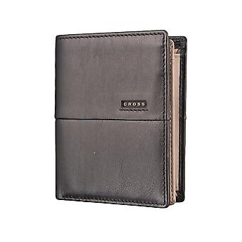CROSS men's purse wallet GeldbörseSchwarz/taupe 2859