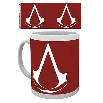 Asesinos credo símbolo taza