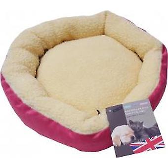 HEM & Boo Donut sengen luksus Faux Fur ruskind indvendig Pink/fløde 18