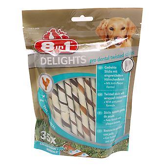 8in1 Dog Delights Dental Twist Sticks 190g (Pack of 5)