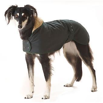 Greyhound Hunter Wax Coat Dark Green 50cm (20