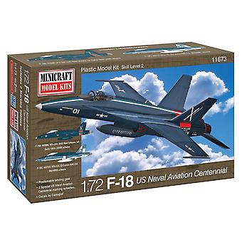Minicraft Model Kit - F-18 US Naval Aviation Centennial Plane - 1:72 Scale 11683