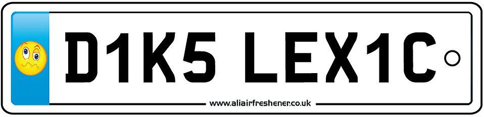 Diks Lexic Numberplate Car Air Freshener