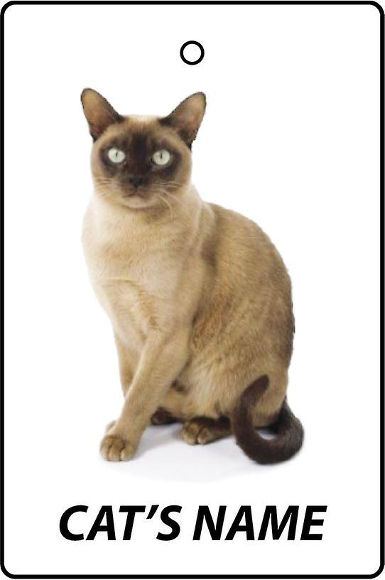 Personalised Burmese Cat Car Air Freshener