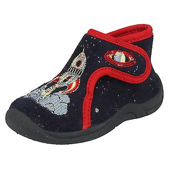 Startrite Boys Slippers Outer Space