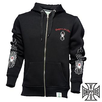 West Coast choppers Zip Hoody spider