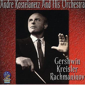 André Kostelanetz & hans orkester - Gershwin Kreisler & Rachmaninov [CD] USA importerer