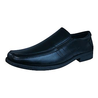 Brickers 2185 Mens Slip On Shoes / Loafers - Black