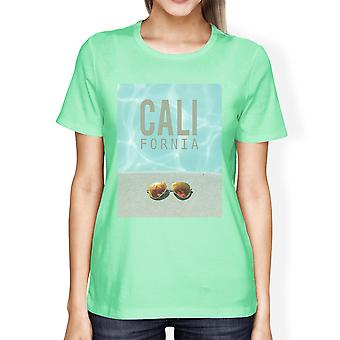 Californië zwembad Sunglass Womens lichtgewicht zomer T-Shirt katoen