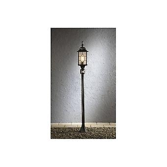 Konstsmide Milano Black Silver Pathway Post With Motion Sensor