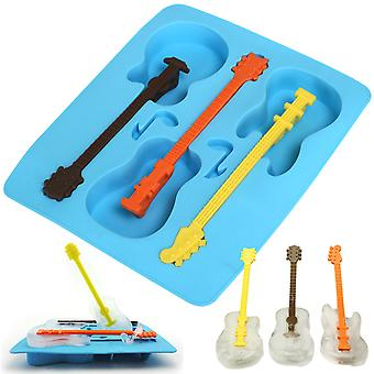 TRIXES Novelty Blue Silicone Guitar Ice Mold