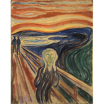 Edvard Munch - The Scream Sketch Poster Print Giclee