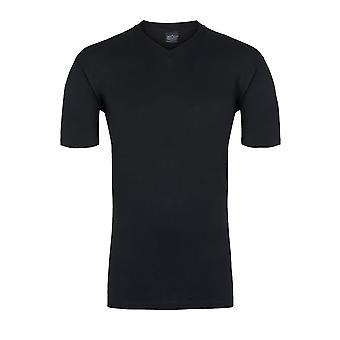 hom Hilary T-Shirt col v, noir