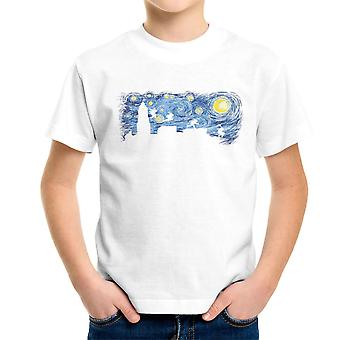 Stellato lotta Teenage Mutant Ninja Turtles Van Gogh t shirt bambino