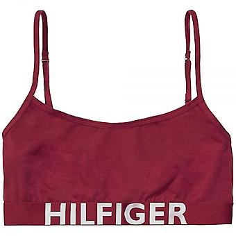 Tommy Hilfiger Women Bold Cotton Bralette, Beetroot Red, Small