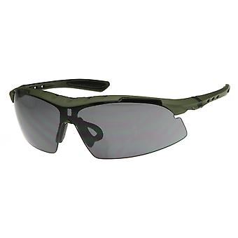 Large Half Frame TR90 Sports Shield Sunglasses