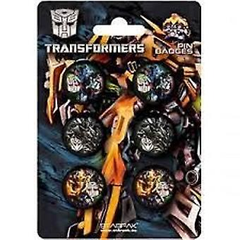 Officially Licensed | TRANSFORMERS REVENGE OF THE FALLEN | 6 PIN BADGE PACK