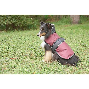 Dog Artic Coat-Burgundy Small 752524