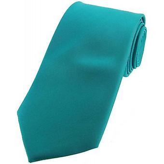 David Van Hagen cravate de soie Satin - Turquoise