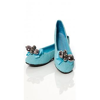 The Fashion Bible Vintage Maisy Style Beaded Flats In Blue