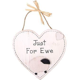 Just for Ewe Hanging Heart Plaque