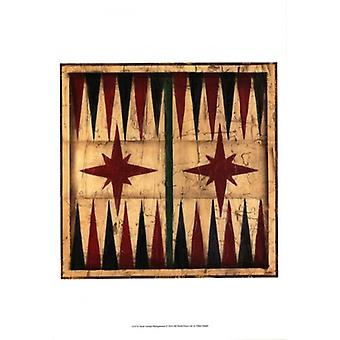 Small Antique Backgammon Poster Print by Ethan Harper (13 x 19)
