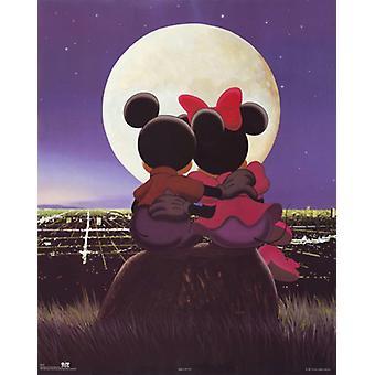 Микки & Минни Moonlight плакат печати Walt Disney (22 x 28)