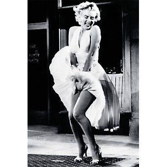 Marilyn Monroe In de zeven jaar jeuken Poster Print (24 x 36)