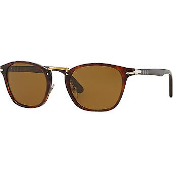 3110S Medium Typewriter Edition tobacco Brown polarized persol