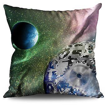 Urban Cosmos Moon Space Linen Cushion Urban Cosmos Moon Space | Wellcoda