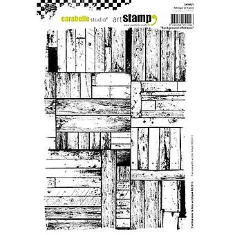 Carabelle Studio Cling Stamp A5-Background Wood SA50021