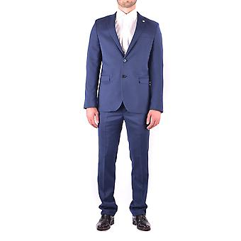 Manuel Ritz mens MCBI325050O Blau polyester suits