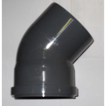 Soil Pipe 45 Degree Bend 110 mm Inlet - Push Fit - Grey - Waste