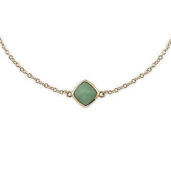 Gemondo 9ct Yellow Gold Cushion Green Jade Bracelet