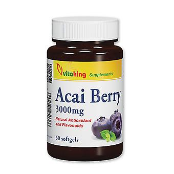 Acai Berry 20:1 Extract 3000 mg (60 softgels)