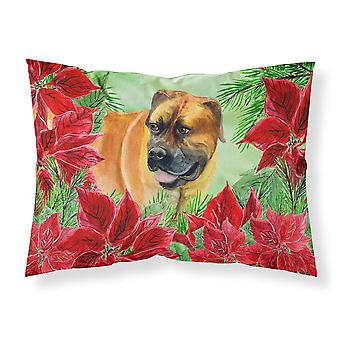 Boerboel Mastiff Poinsettas Fabric Standard Pillowcase