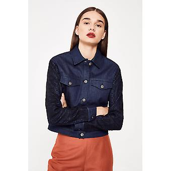 N12H Jetset Denim Jacket With Applique