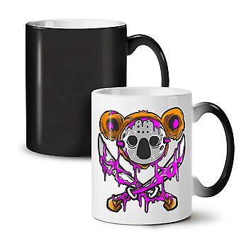 Koala Murder NEW Black Colour Changing Tea Coffee Ceramic Mug 11 oz   Wellcoda