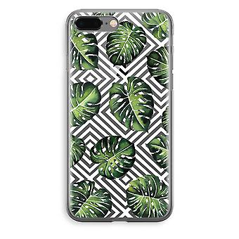iPhone 8 Plus Transparant Case - Geometric jungle