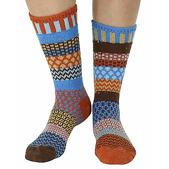 Amber Sky recycled cotton multicolour odd-socks | Crafted by Solmate