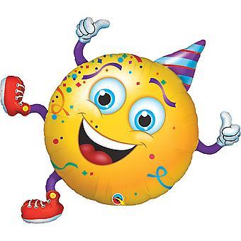 Foil balloon smiley party birthday party lion circa 96 cm high