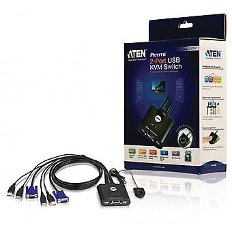 Atene 2-Port KVM Switch, nero