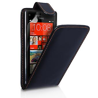 Yousave Accessories HTC 8X Leather-Effect Flip Case - Black