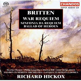 B. Britten - Britten: War Requiem; Sinfonia Da Requiem; Ballad of Heroes [SACD] USA import