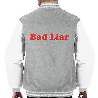 Schlechter Lügner Männer Varsity Jacket